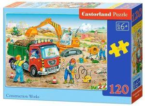 Puzzle Castorland 120 dílků - Stavební práce 13180