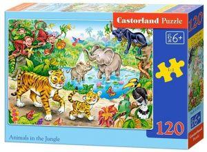 Puzzle Castorland 120 dílků - Zvířata v džungli  13173