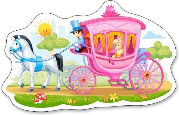 Puzzle Castorland 15 dílků MAXI - Princezna v kočáru 015122
