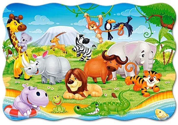 Puzzle Castorland 20 dílků podlahové - MAXI - Africká zvířátka 02276