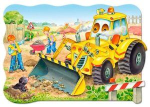 Puzzle Castorland 20 dílků podlahové - MAXI - Buldozér  02139