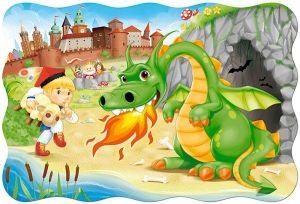 Puzzle Castorland 20 dílků podlahové - MAXI - Drak  02269