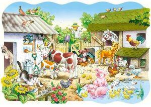 Puzzle Castorland 20 dílků podlahové - MAXI - Farma  02214