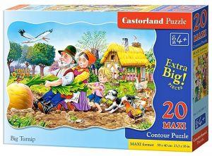 Puzzle Castorland 20 dílků podlahové - MAXI - O velké řepě 02283