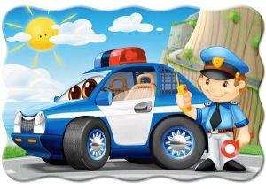 Puzzle Castorland 20 dílků podlahové - MAXI - Policejní hlídka  02252