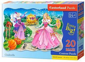 Puzzle Castorland 20 dílků podlahové - MAXI - Popelka 02313