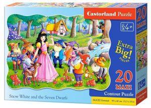 Puzzle Castorland 20 dílků podlahové - MAXI - Sněhurka II 02320