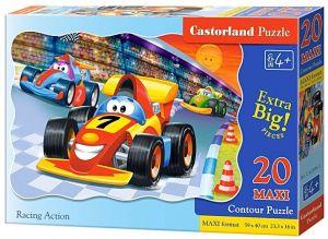 Puzzle Castorland 20 dílků podlahové - MAXI - Závody 02306