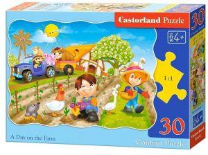 Puzzle Castorland  30 dílků  -  Den na farmě  03563