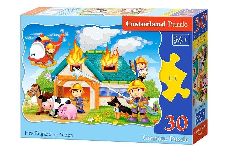 Puzzle Castorland 30 dílků - Hasiči v akci 03525