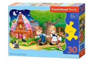 Puzzle Castorland  30 dílků  - Jeníček a Mařenka 03532