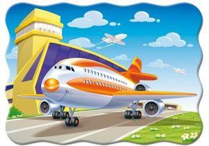 Puzzle Castorland 30 dílků - Letadlo na ranveji 03587