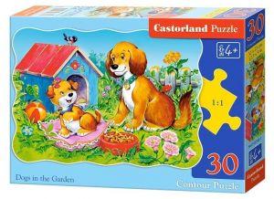 Puzzle Castorland  30 dílků  - Pejsci na zahradě 03549