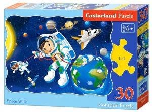 Puzzle Castorland  30 dílků  -  Procházka ve vesmíru  03594
