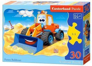 Puzzle Castorland  30 dílků  -  Veselý buldozér 03600
