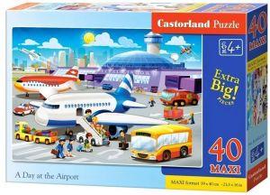Puzzle Castorland 40 dílků MAXI - Na letišti  040223