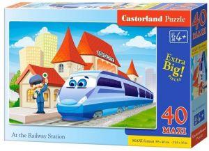 Puzzle Castorland 40 dílků MAXI - Na nádraží  040216