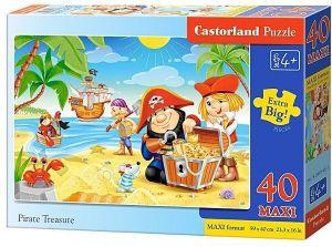 Puzzle Castorland 40 dílků MAXI - Piráti  040148