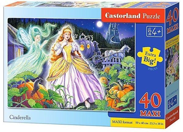 Puzzle Castorland 40 dílků MAXI - Popelka 040155