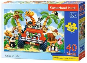 Puzzle Castorland 40 dílků MAXI - Safari v autě  040131