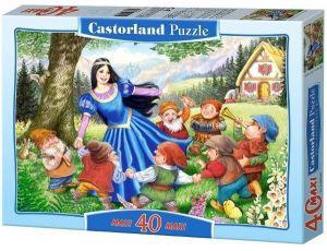 Puzzle Castorland 40 dílků MAXI - Sněhurka  a 7 trpaslíků 040049