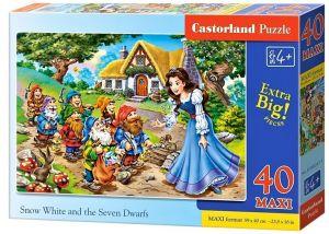 Puzzle Castorland 40 dílků MAXI - Sněhurka  II  040247