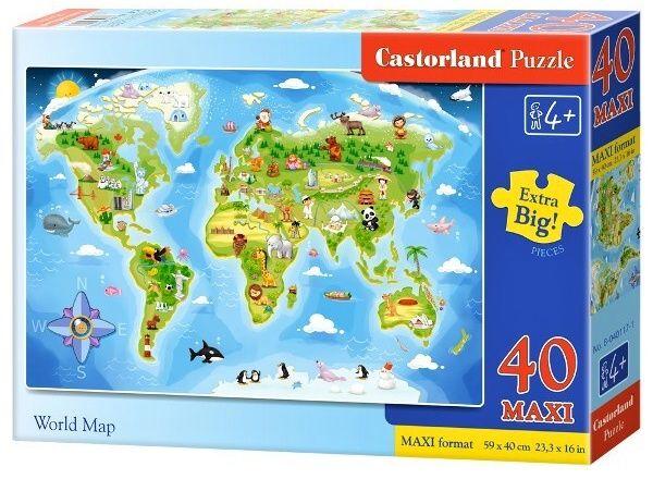 Puzzle Castorland 40 dílků MAXI - Světadíly 040117