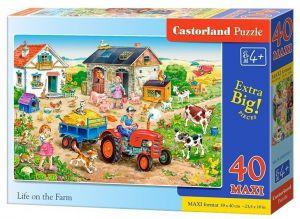Puzzle Castorland 40 dílků MAXI - Život na farmě  040193