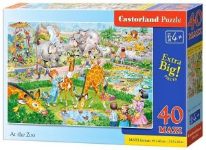 Puzzle Castorland 40 dílků MAXI - ZOO  040179