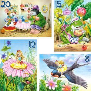Puzzle Castorland 4v1 = 8-20 dílků   O Malence 04270