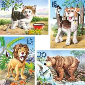 Puzzle Castorland 4v1 = 8-20 dílků  Zvířata  04287
