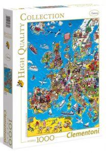 Puzzle CLEMENTONI 1000 dílků - Mapa Evropy  39384
