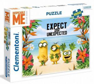 Puzzle CLEMENTONI 1000 dílků - Mimoni na pláži  39374
