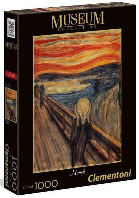 Puzzle Clementoni 1000 dílků - Munch - Výkřik 39377