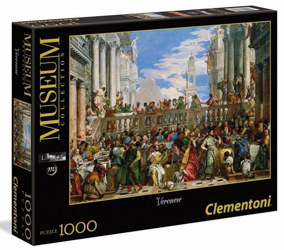 Puzzle Clementoni 1000 dílků - Veronese - Svatba v Káně 39391