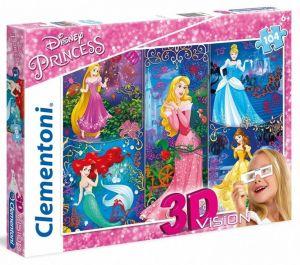 Puzzle Clementoni 104 dílků  3D - Princezny  20609