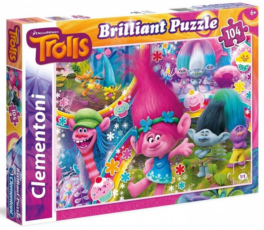 Puzzle Clementoni - 104 dílků Briliant - Trolové 20144