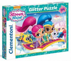 Puzzle Clementoni - 104 dílků Glitter - Shimmer a Shine 27991