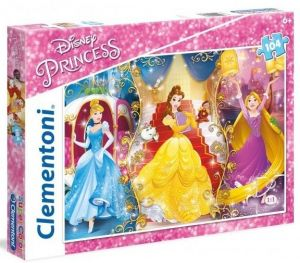 Puzzle Clementoni 104 dílků  -  Princezny 27983