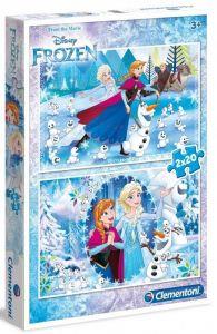 Puzzle Clementoni 2 x 20  dílků  - Frozen 07030