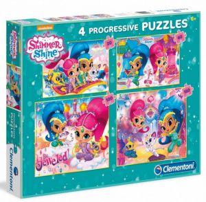 Puzzle Clementoni  - 20, 60, 100 a 180 dílků  - Shimmer a Shine  07715