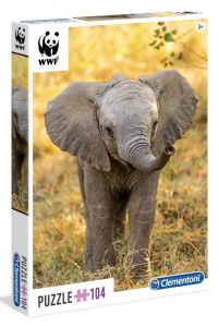Puzzle Clementoni 104 dílků  - WWF - Slon  27999