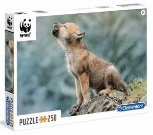 Puzzle Clementoni 250 dílků  - WWF - Vlk  29746