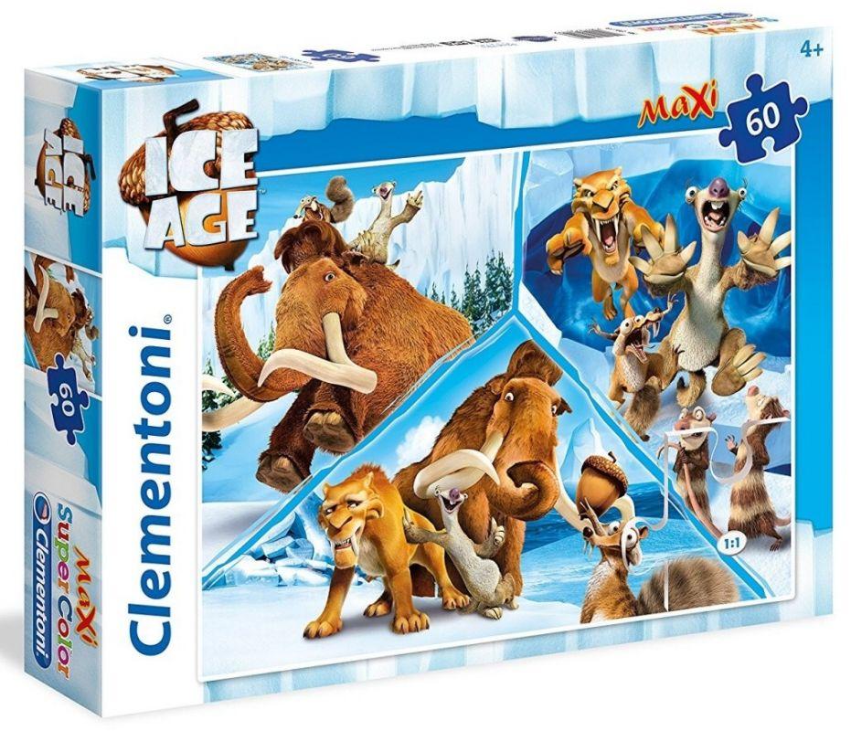 Puzzle Clementoni 60 dílků MAXI - Doba ledová 26419