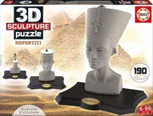 3D puzzle Educa 16966 - Sculpture Nefertiti 190 dílů