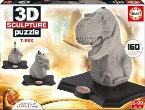 3D puzzle Educa 16967 - Sculpture T-Rex  160 dílů