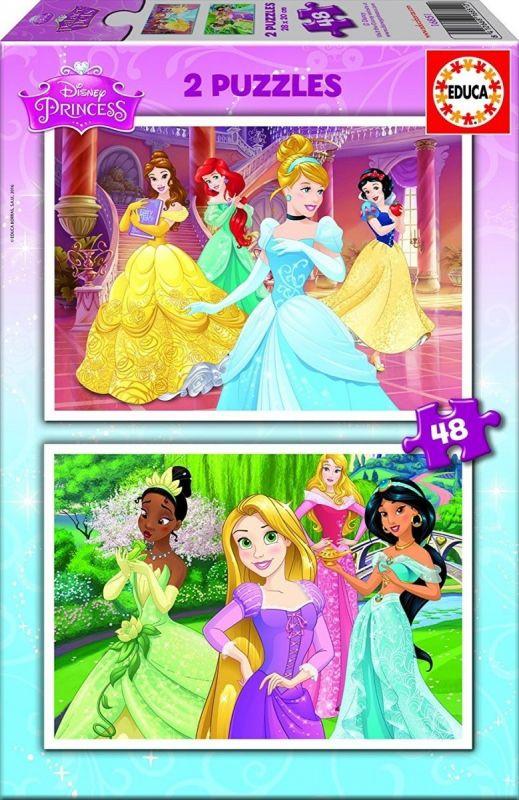 Puzzle Educa 2 x 48 dílků Princezny 16851