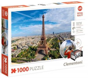 Clementoni  puzzle 1000 dílků Virtual Reality- Paříž  39402