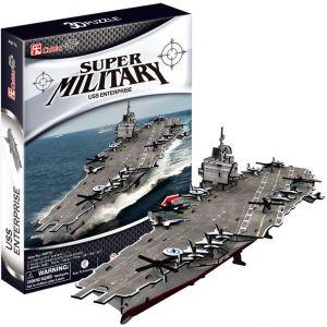 CUBICFUN 3D puzzle Letadlová loď USS Enterprise 121 dílků  20677