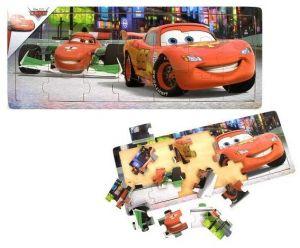 Dřevěné puzzle PLAYME - CARS  21 dílků